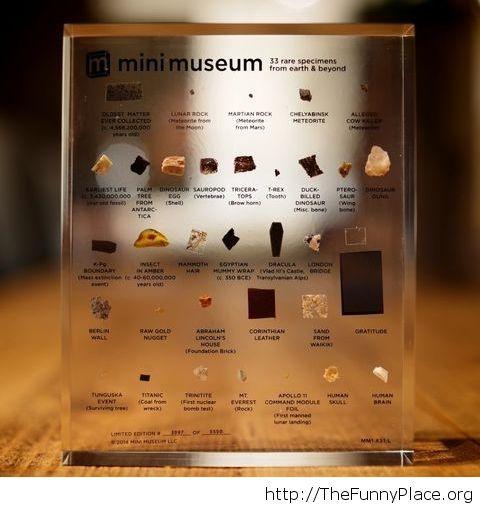 Cool mini museum