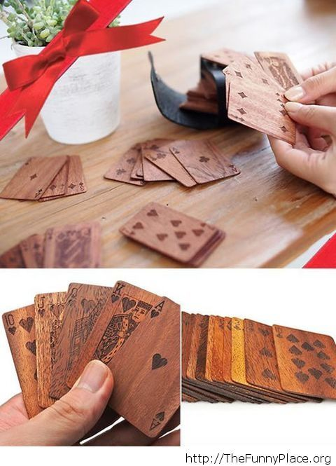 Cool wooden deck of cards