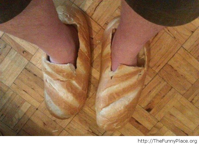 Fancy bread shoes