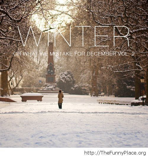 Funny Winter saying December