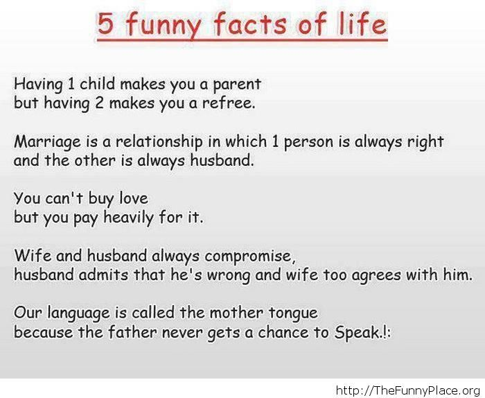 Funny life facts