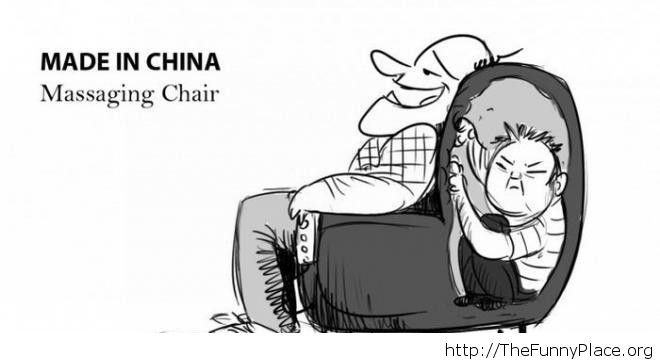 Funny massaging chair image