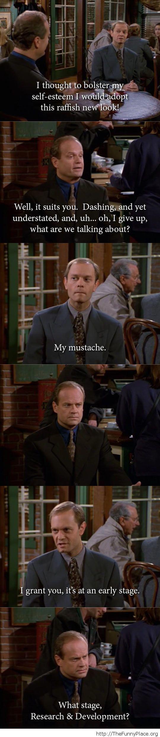 Funny moustache conversation