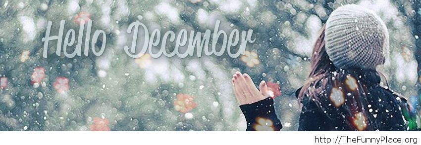 Hello December facebook cover