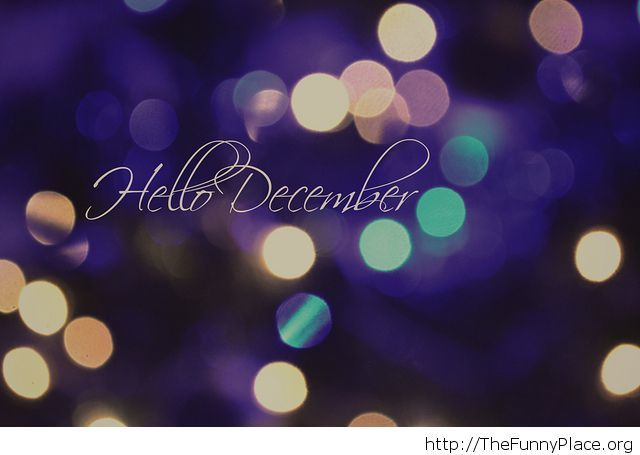 Hello December wallpaper lights