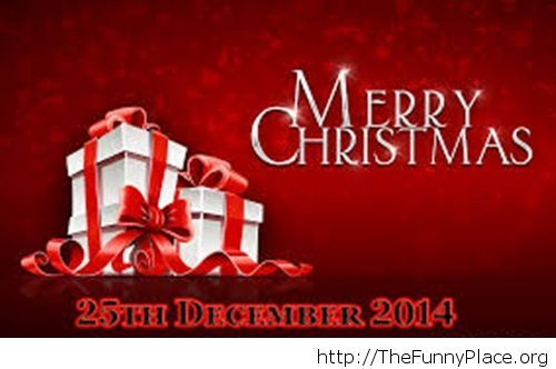 Merry Christmas 2014 presents wallpaper