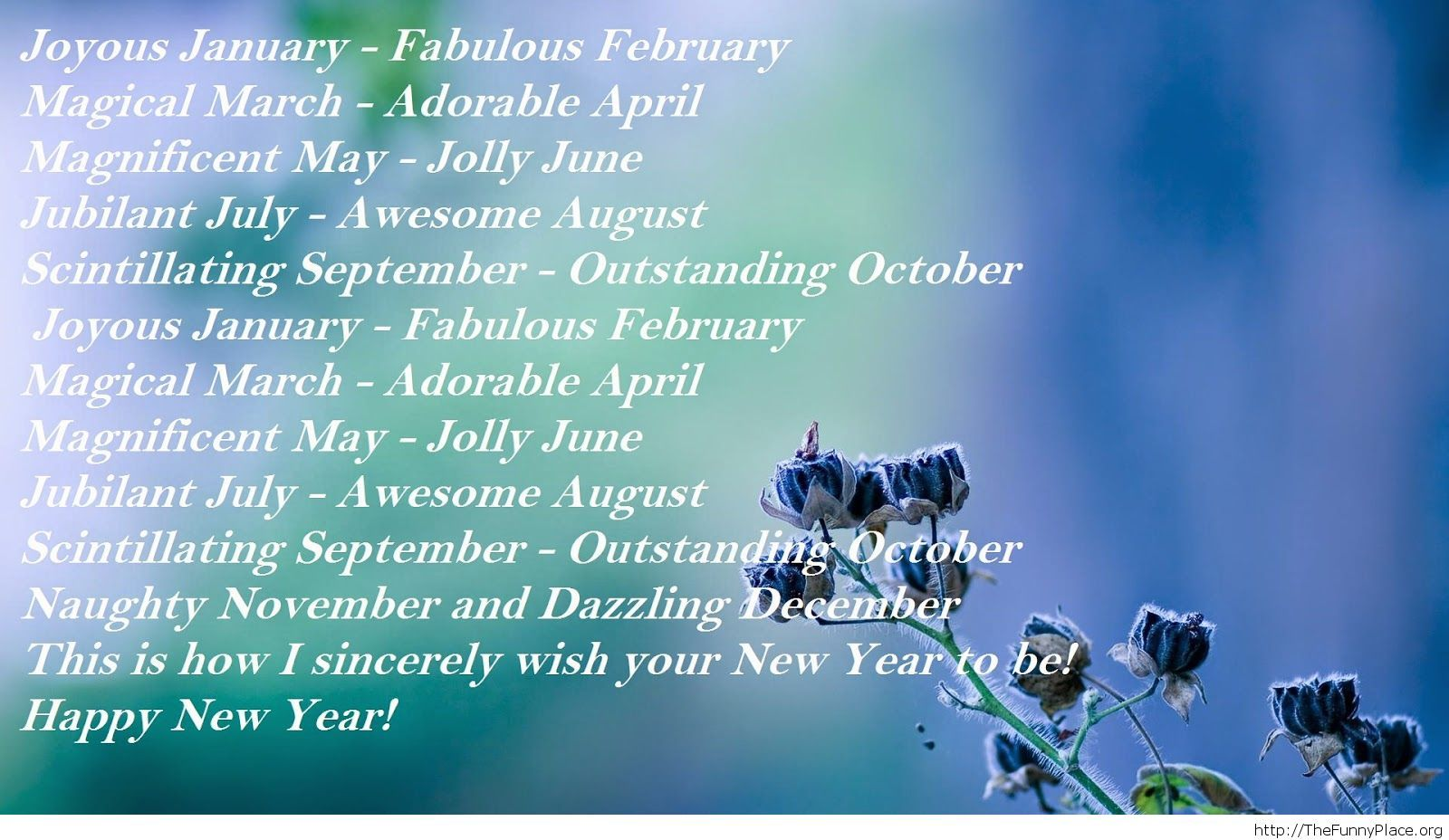 New Year 2015 poem wallpaper