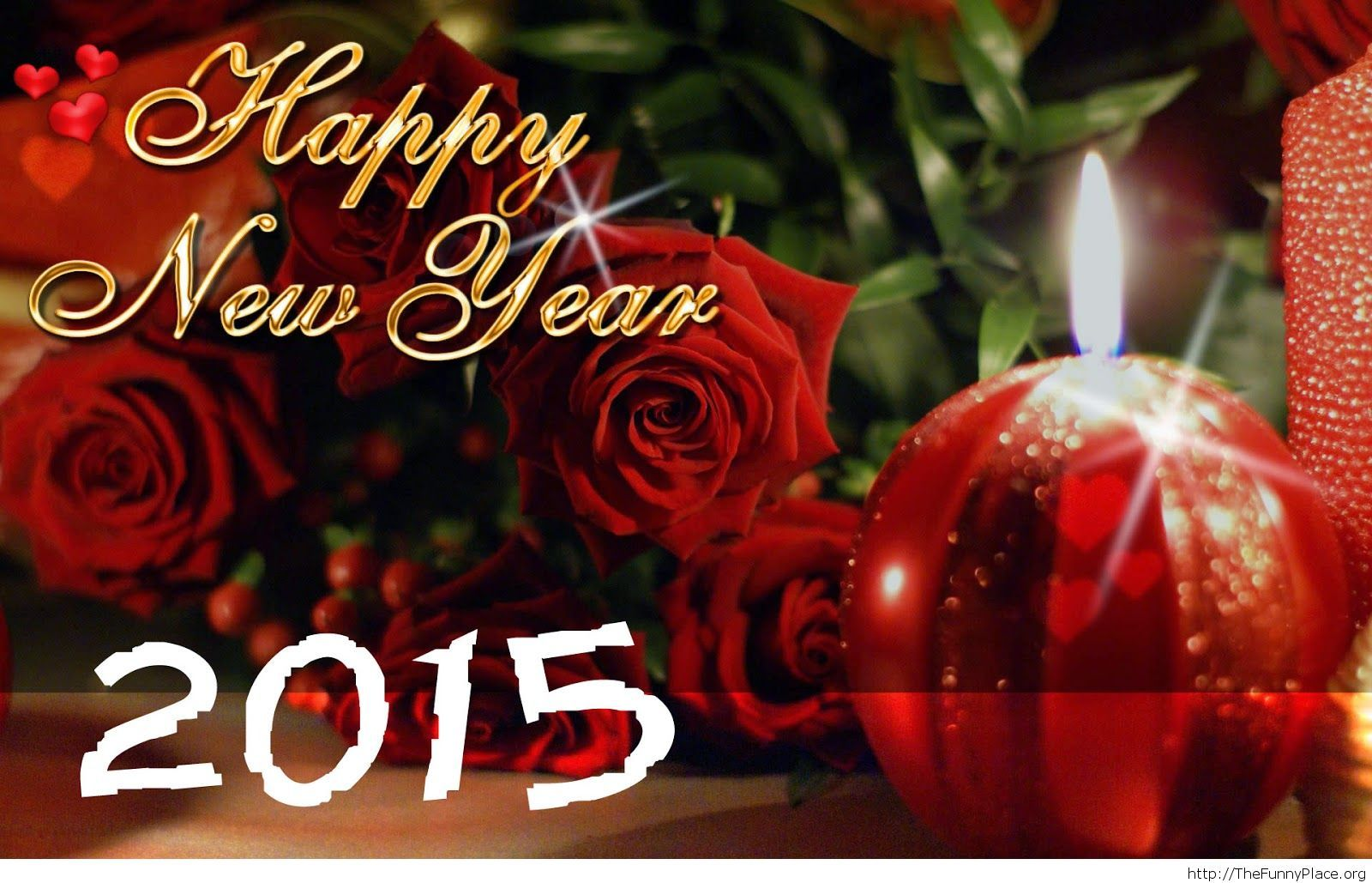 Nice Happy New Year wallpaper with decorations