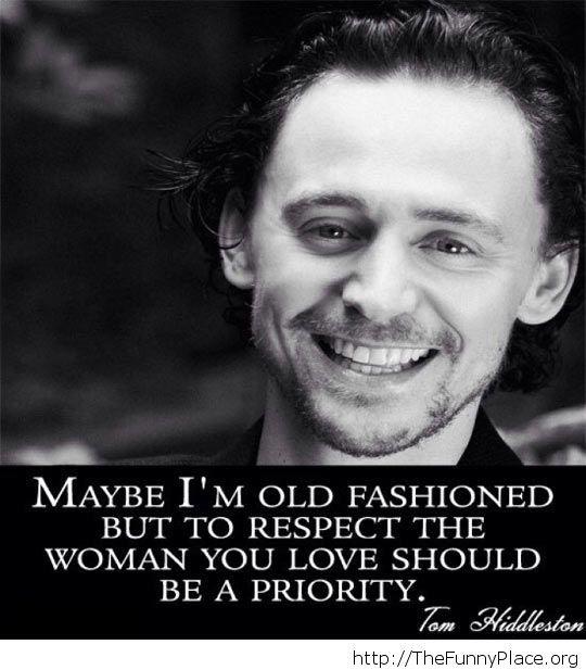 Old fashioned Tom Hiddleston