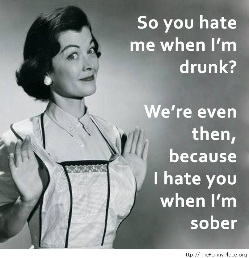 Sober funny saying image