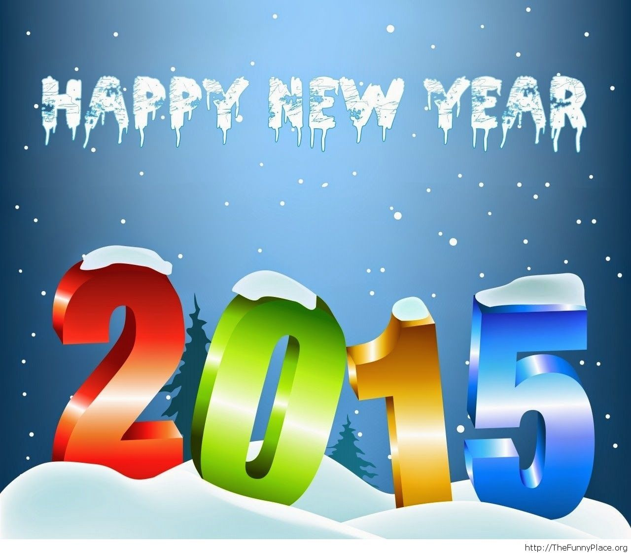 Winter  Happy New Year 2015 funny wallpaper