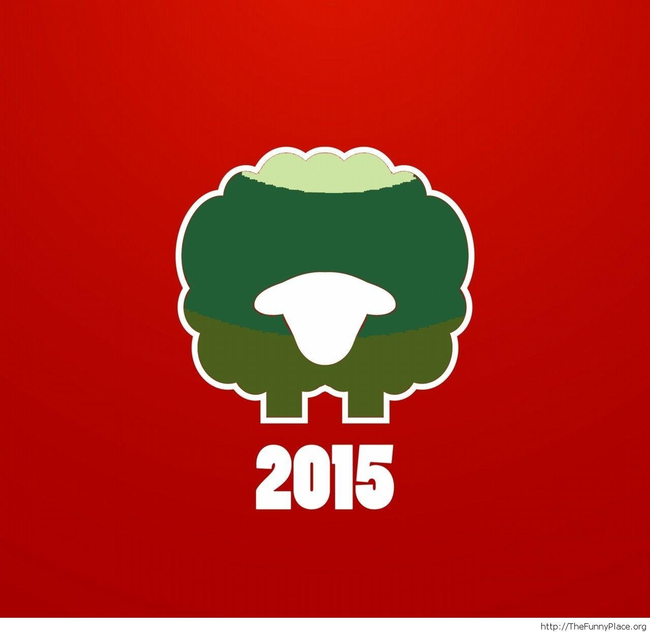 Year of The Sheep 2015 greeting card