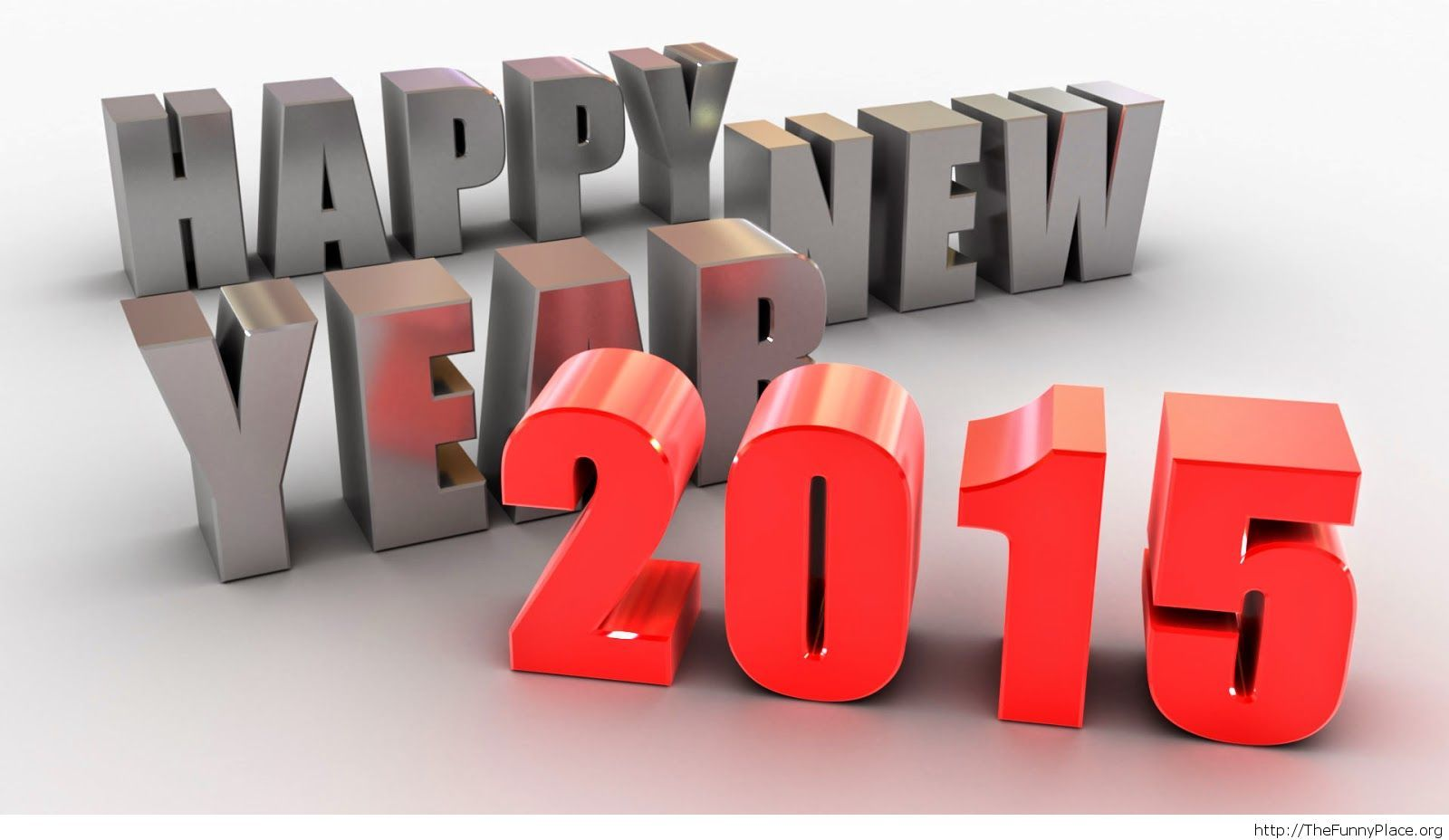 3D Happy New Year wallpaper 2015