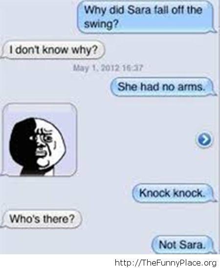 Bad jokes message