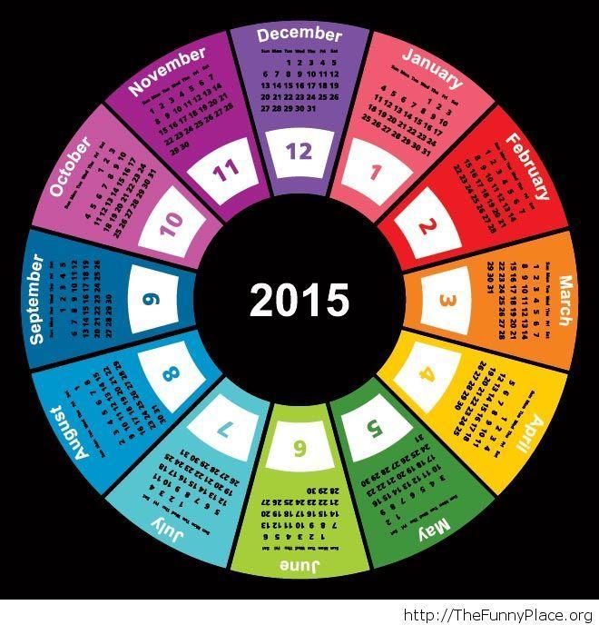 Beautiful geometric shape circle calendar