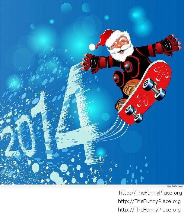 Christmas image funny Santa 2014