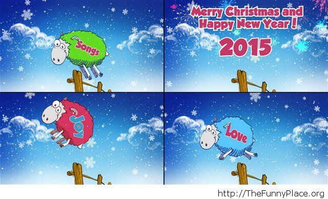 Comic Happy Winter holidays image