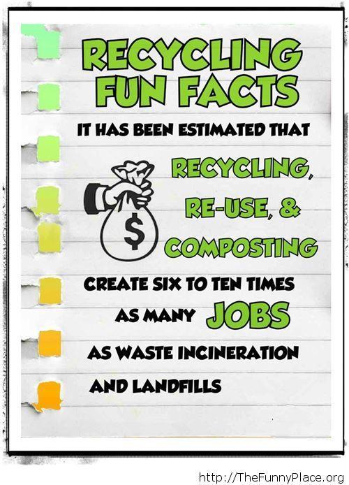 Cool recycilng fact
