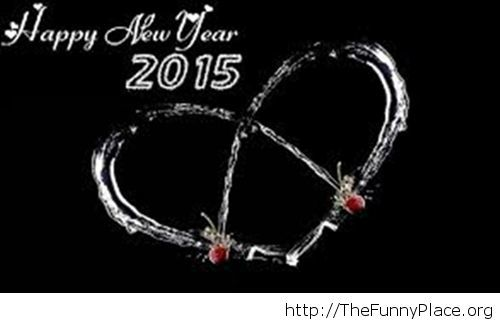 Creative wallpaper heart Happy New Year