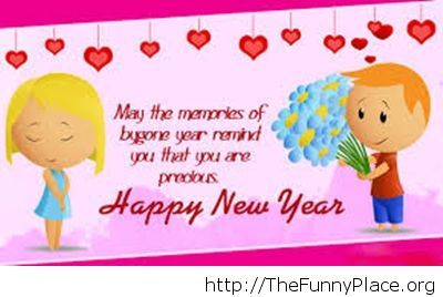Cute cartoon image Happy New Year