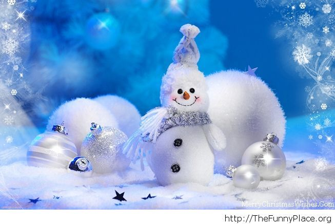 Cute snowman wallpaper for Christmas
