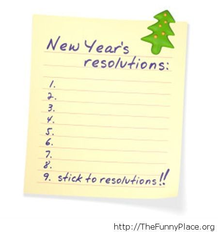 Easiest resolutions list ever