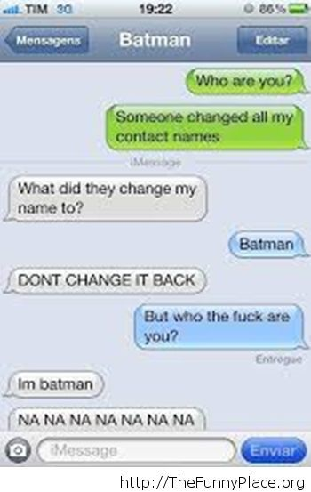 Funny Batman message