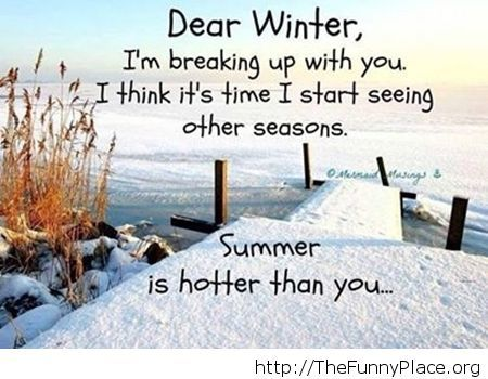 Funny Dear winter saying image