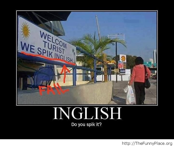 Funny English fail image