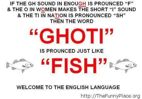 Funny English language fact