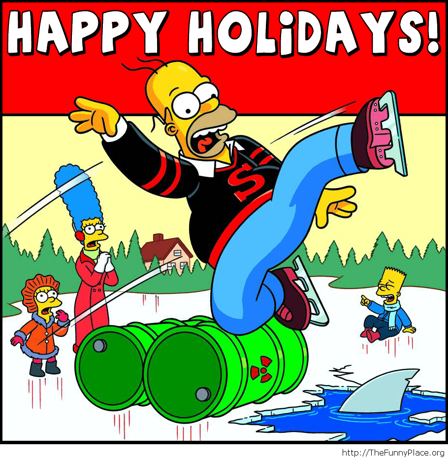 Funny Happy Holidays card cartoons