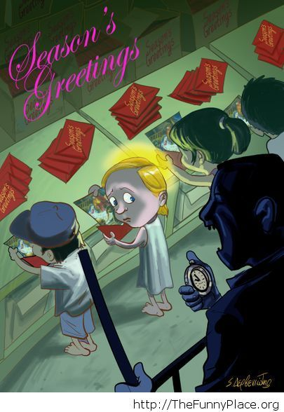 Funny Happy Holidays comic card