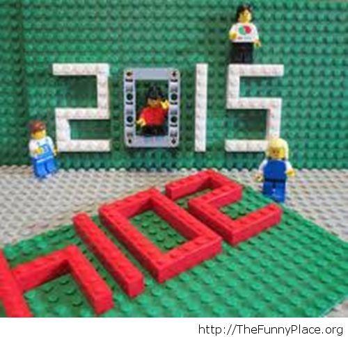 Funny Lego Hello 2015 image