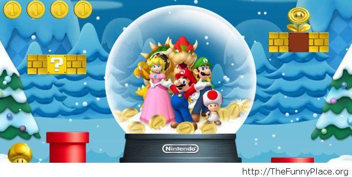 Funny Mario Christmas image