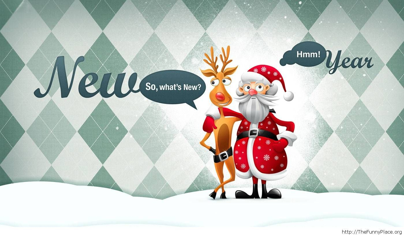 Funny New Year moments wallpaper