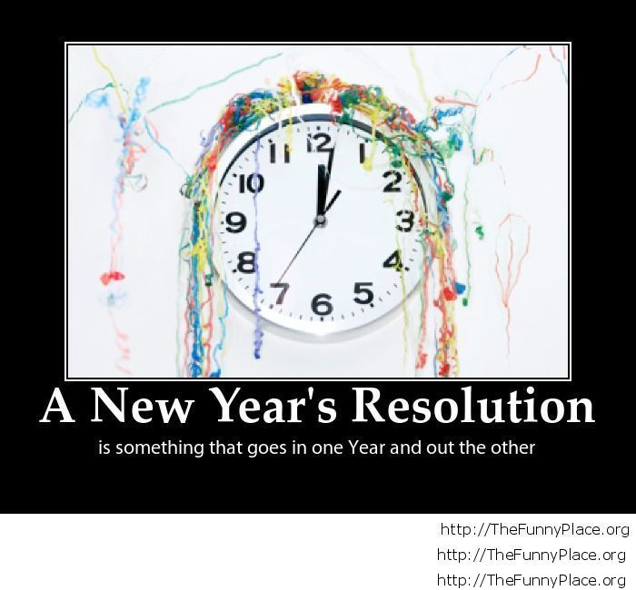 Funny New Year's resolution meaning