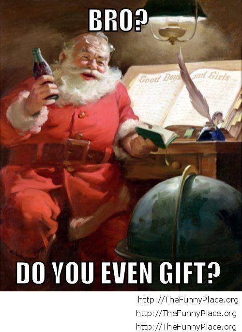 Funny Santa Christmas saying