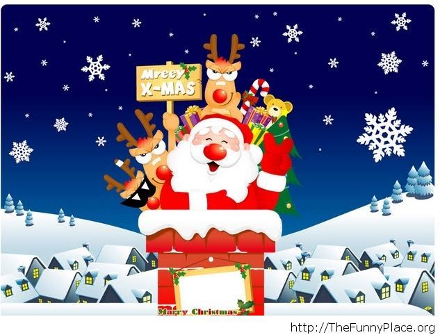 Funny cartoon image Christmas