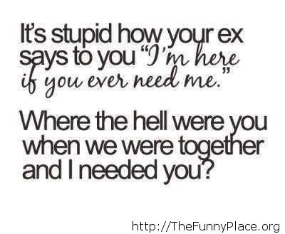 Funny quote about your ex