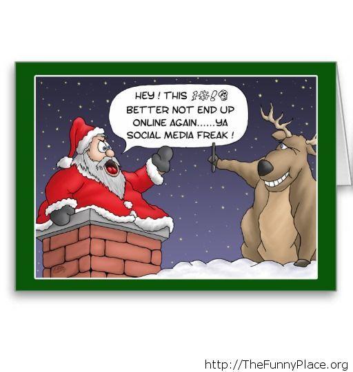 Funny selfie Santa Christmas image