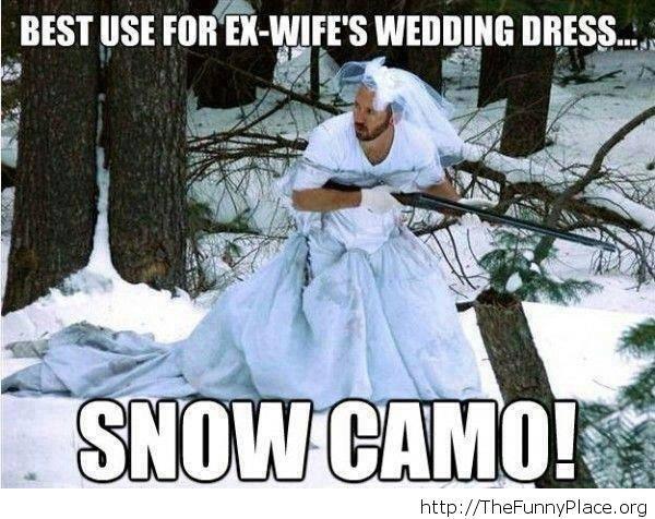 Funny snow camo