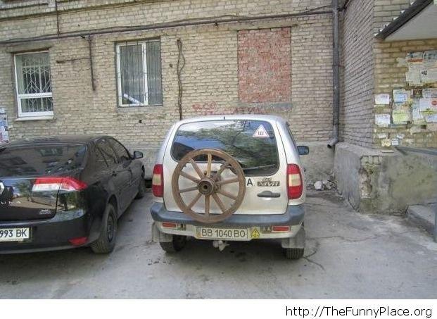 Funny spare wheel