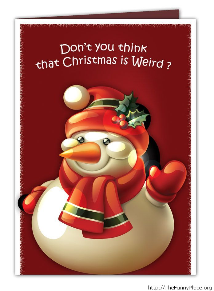 Funny weird Christmas quote