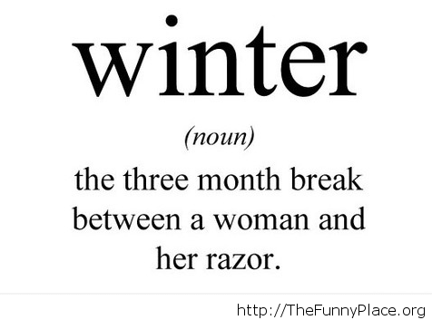 Funny winter definition