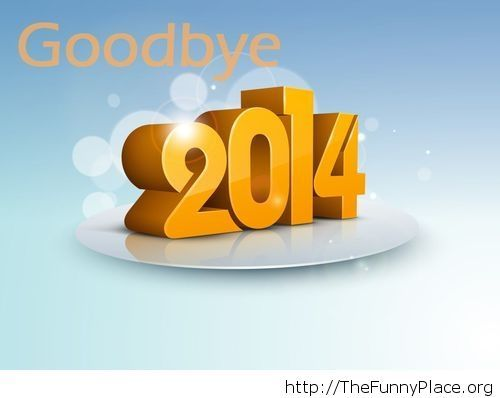 Goodbye 2014 3D wallpaper
