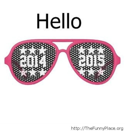 Goodbye 2014 New year image sunglasses