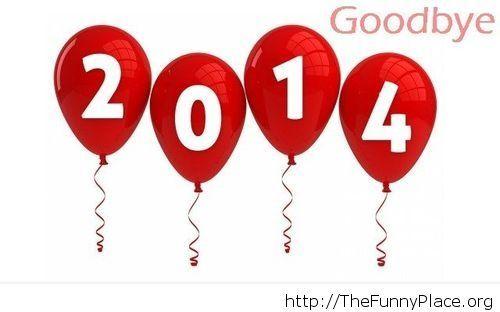 Goodbye 2014 balloons image