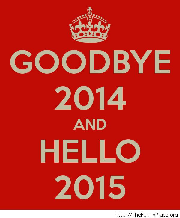 Goodbye 2014 red wallpaper