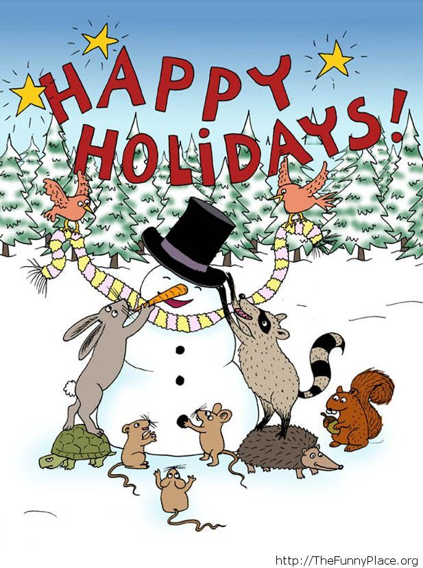 Happy Holidays cartoons card