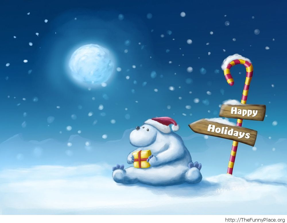 Happy Holidays wallpaper cartoon